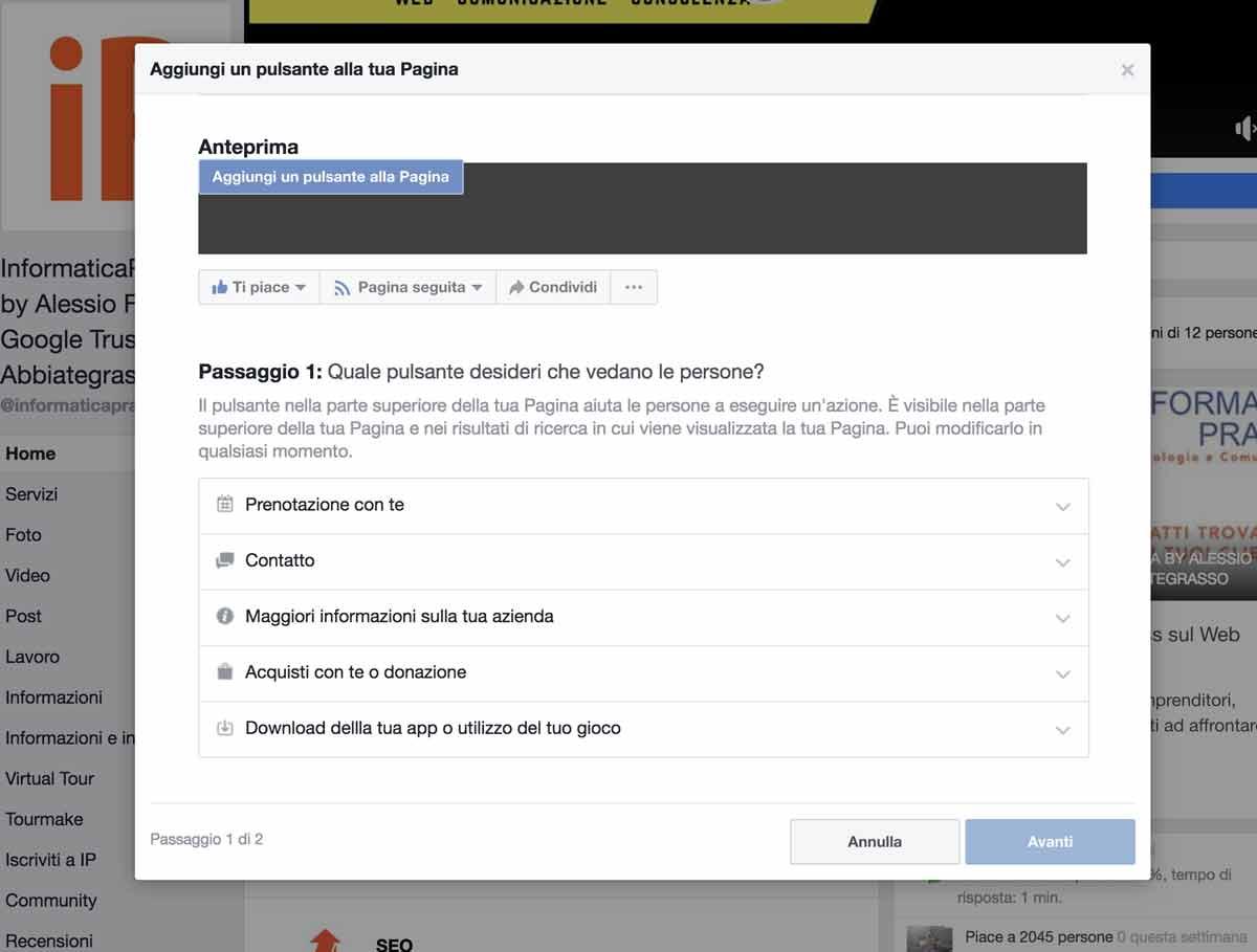 come configurare al meglio la tua pagina facebook aziendale